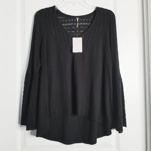 Free People NWT | Parisian Nights Bell Sleeve Top